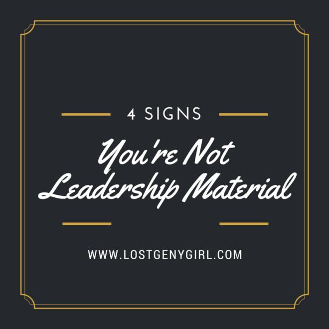 leadership material